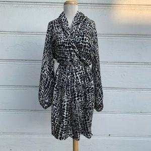 Patterned Rachel Zoe Wrap Dress Size Medium